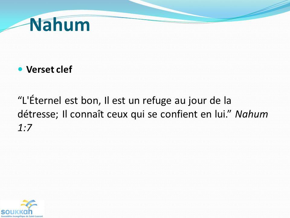 Nahum Verset clef.
