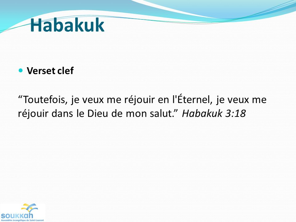 Habakuk Verset clef.