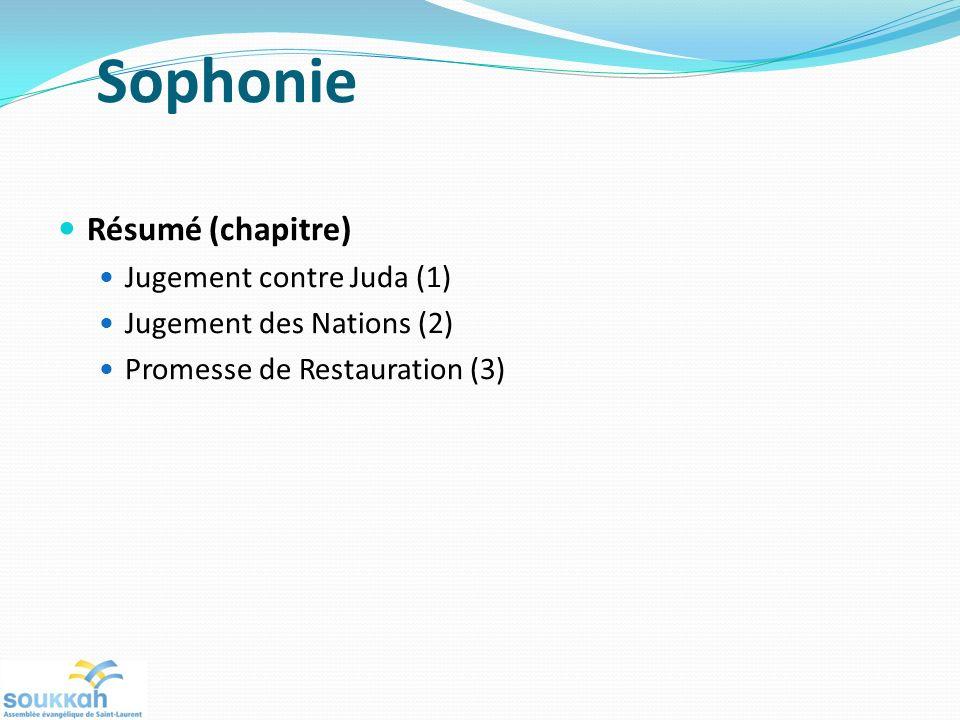 Sophonie Résumé (chapitre) Jugement contre Juda (1)