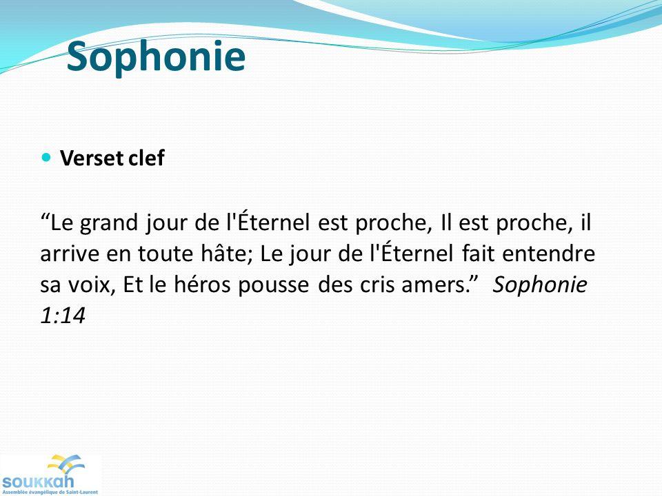 Sophonie Verset clef.