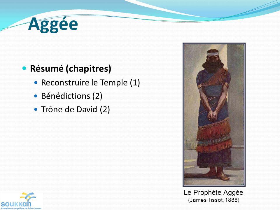 Aggée Résumé (chapitres) Reconstruire le Temple (1) Bénédictions (2)