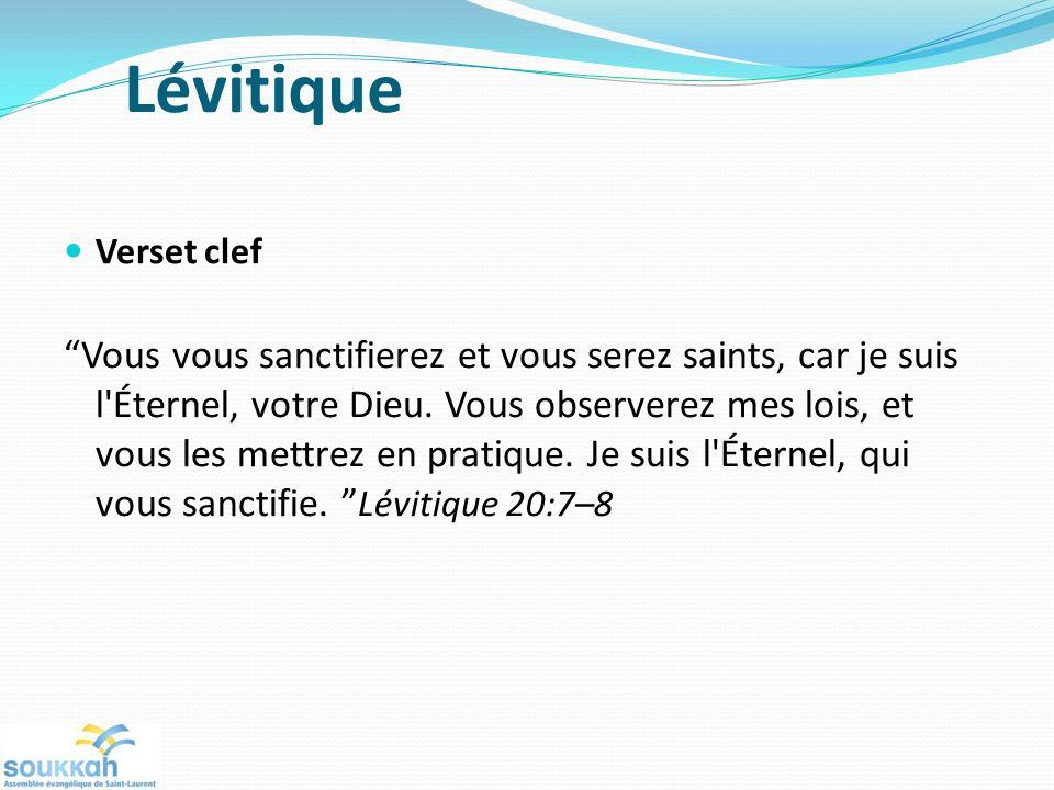 Lévitique Verset clef.