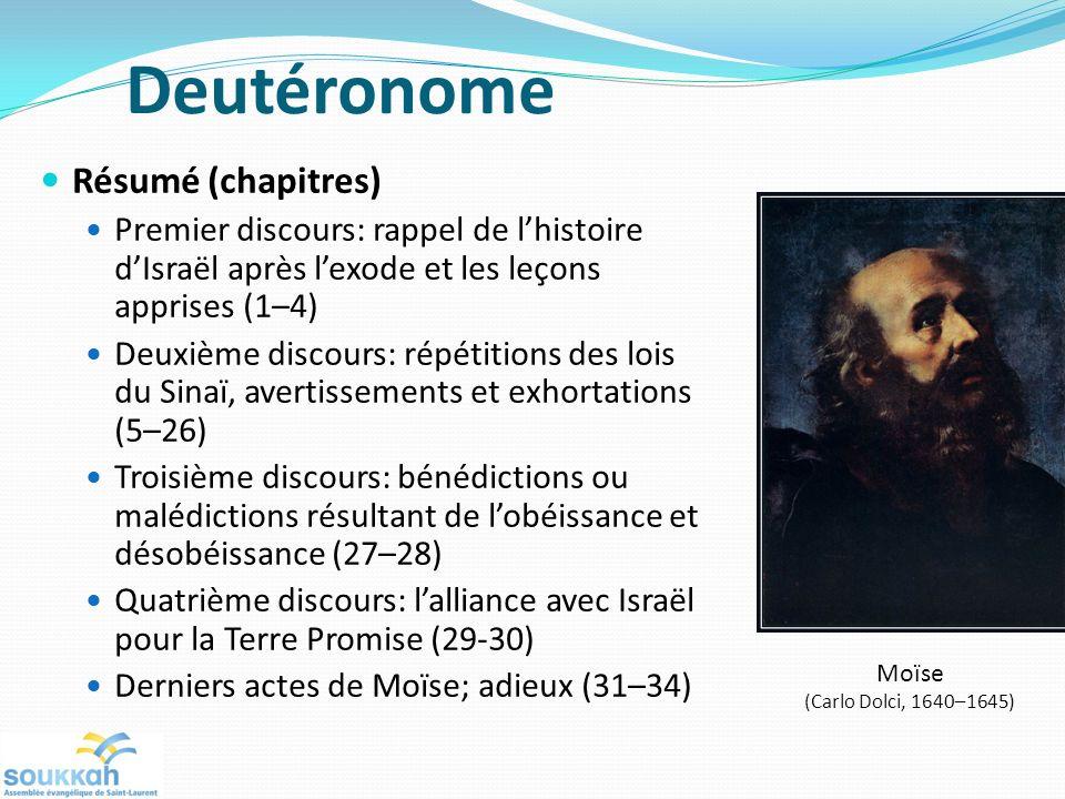 Deutéronome Résumé (chapitres)