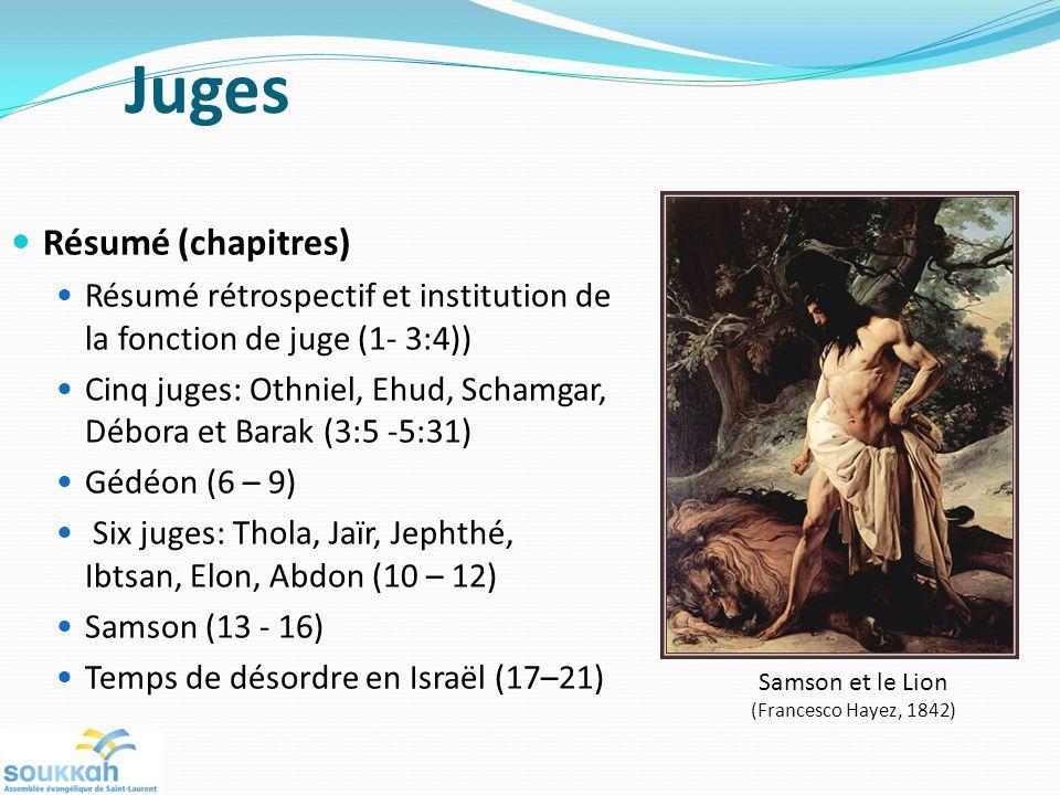 Juges Résumé (chapitres)