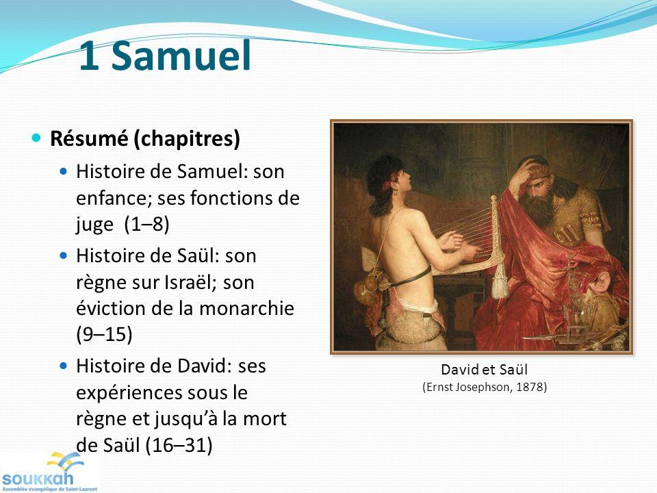 1 Samuel Résumé (chapitres)