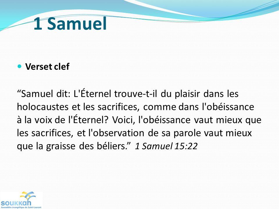 1 Samuel Verset clef.