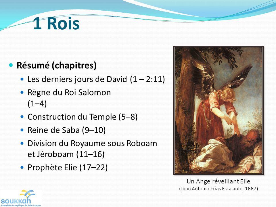 1 Rois Résumé (chapitres) Les derniers jours de David (1 – 2:11)