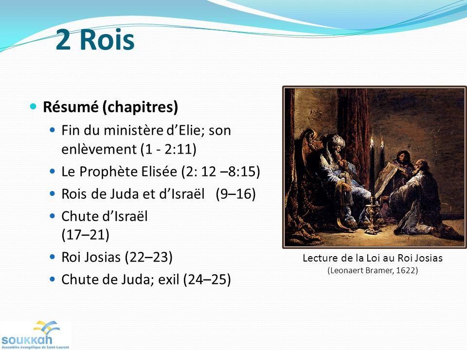 Lecture de la Loi au Roi Josias