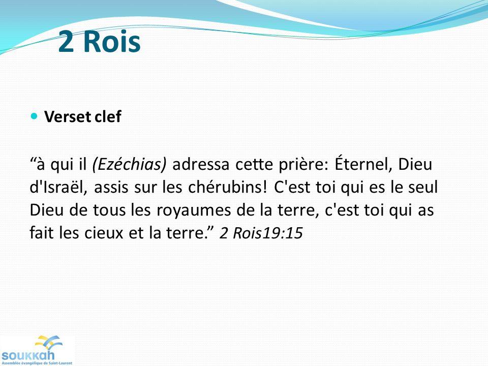 2 Rois Verset clef.