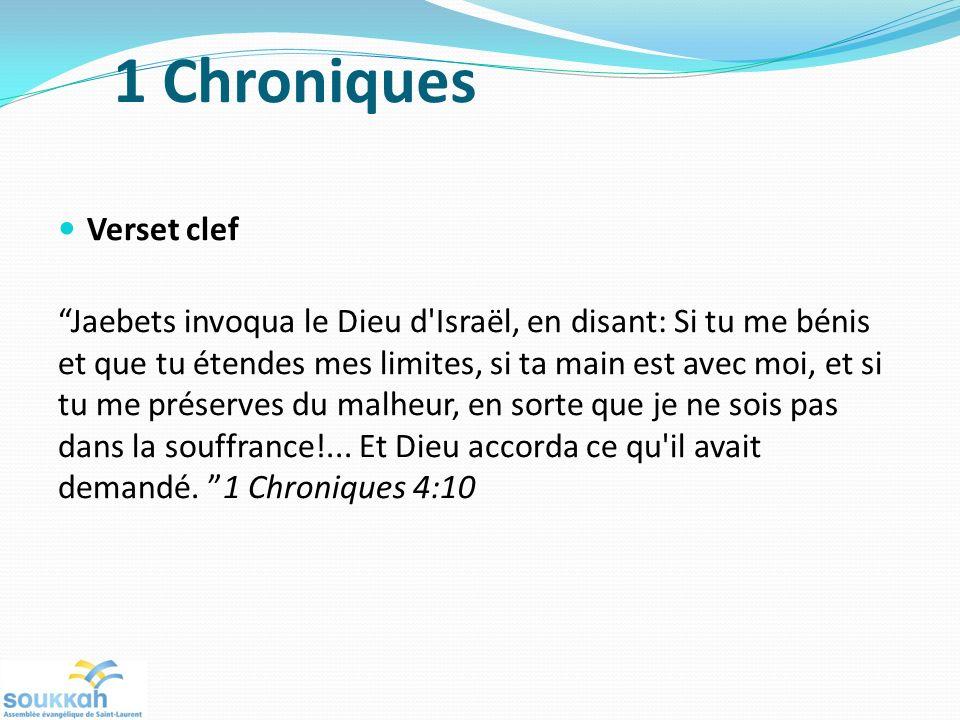 1 Chroniques Verset clef