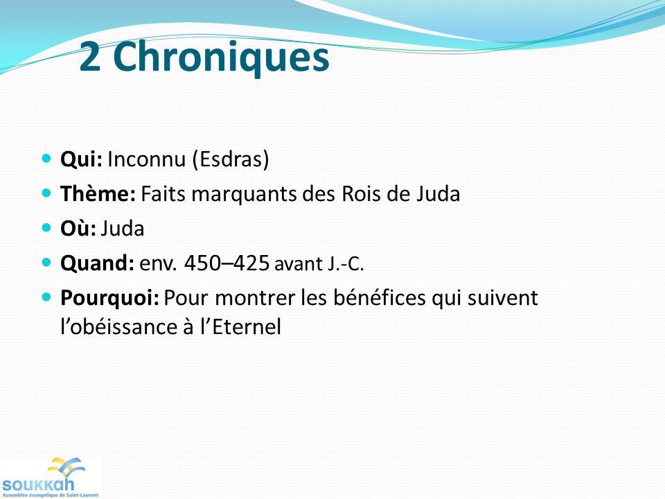 2 Chroniques Qui: Inconnu (Esdras)
