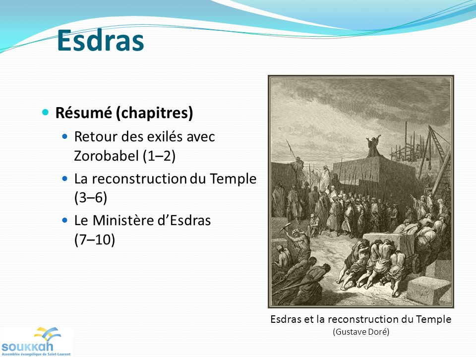 Esdras et la reconstruction du Temple