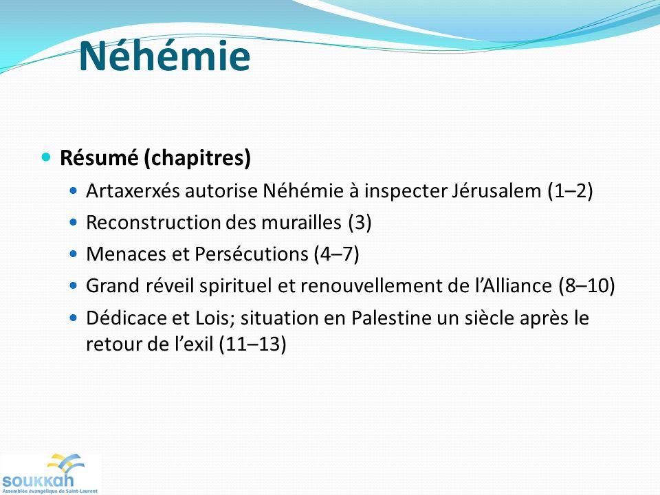 Néhémie Résumé (chapitres)