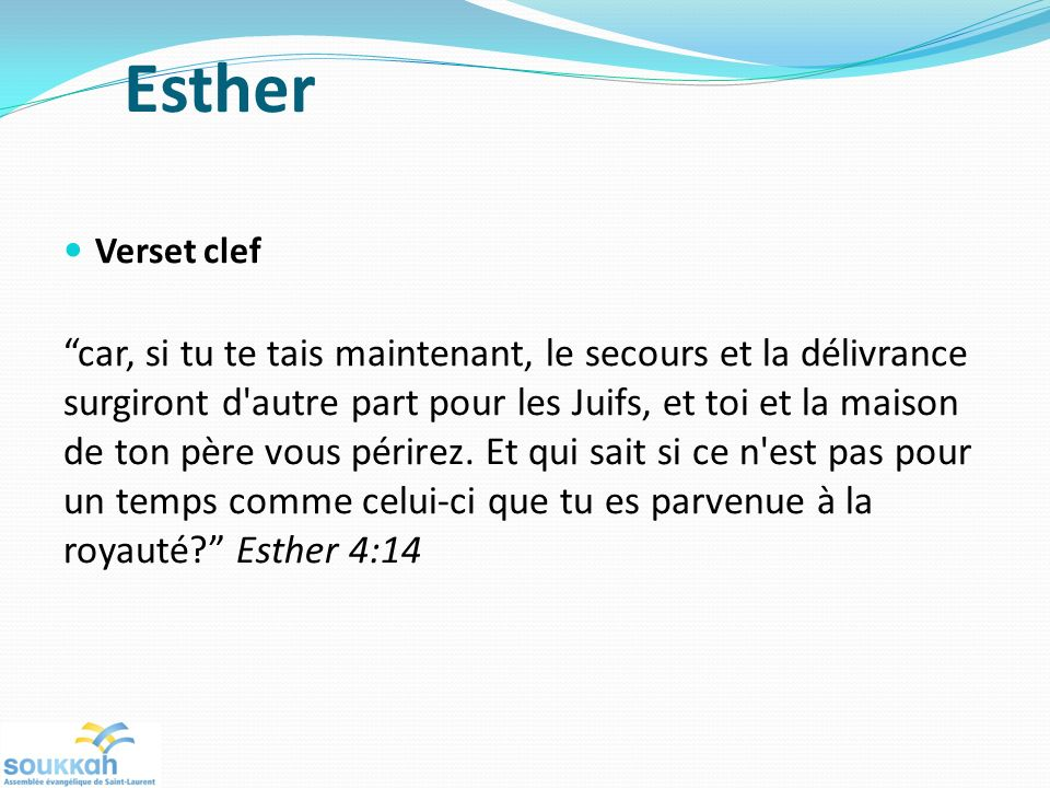 Esther Verset clef.