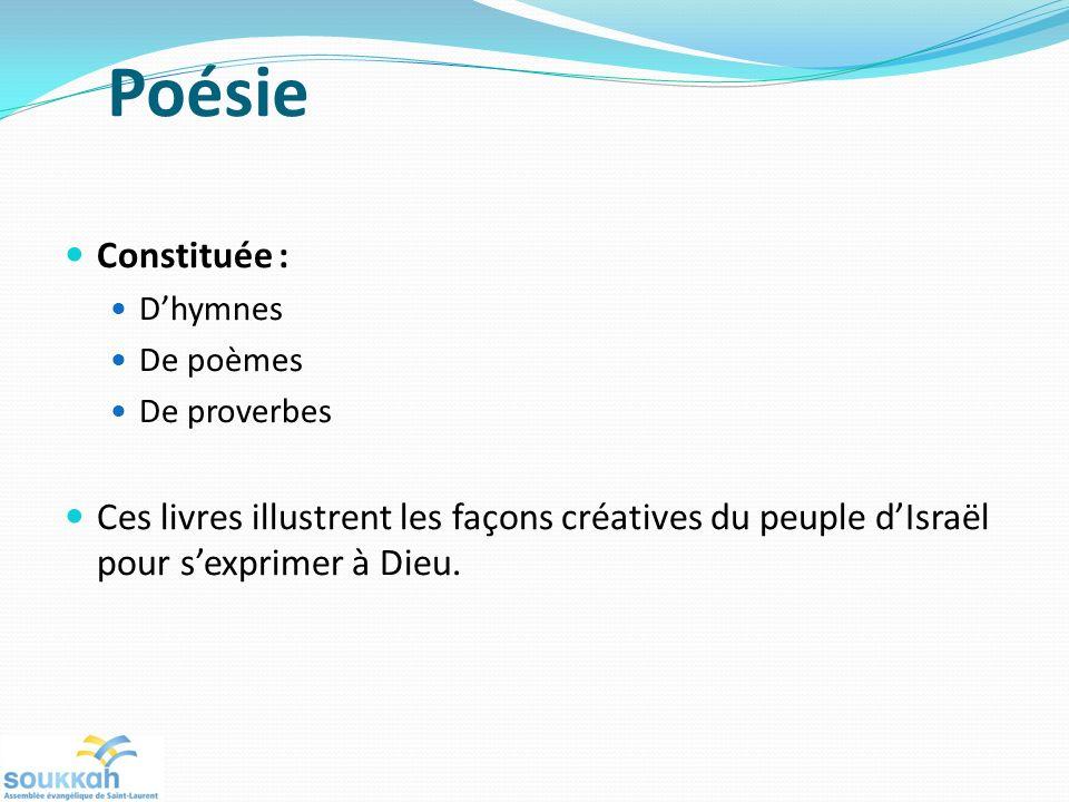 Poésie Constituée : D'hymnes. De poèmes. De proverbes.