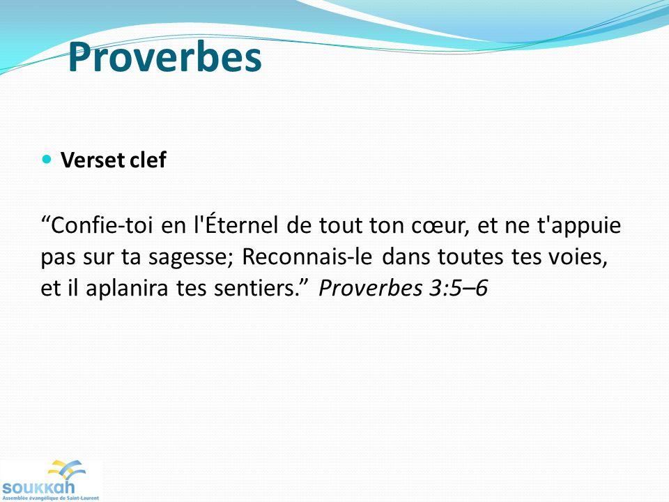 Proverbes Verset clef.