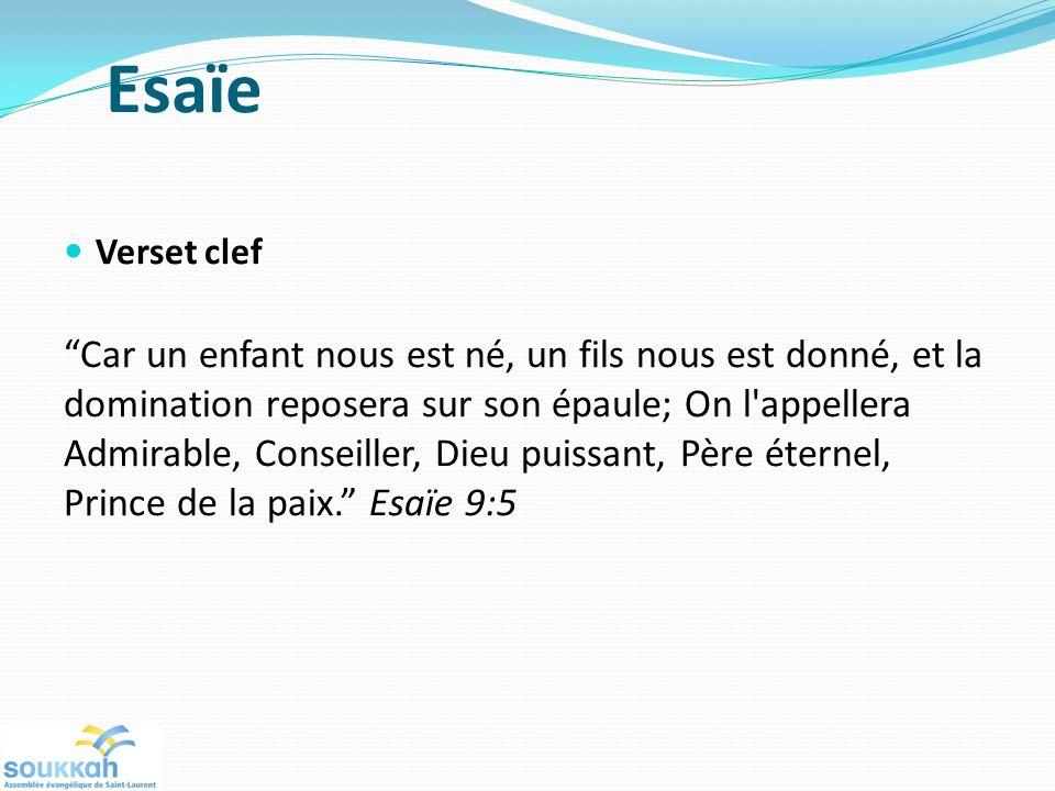 Esaïe Verset clef.