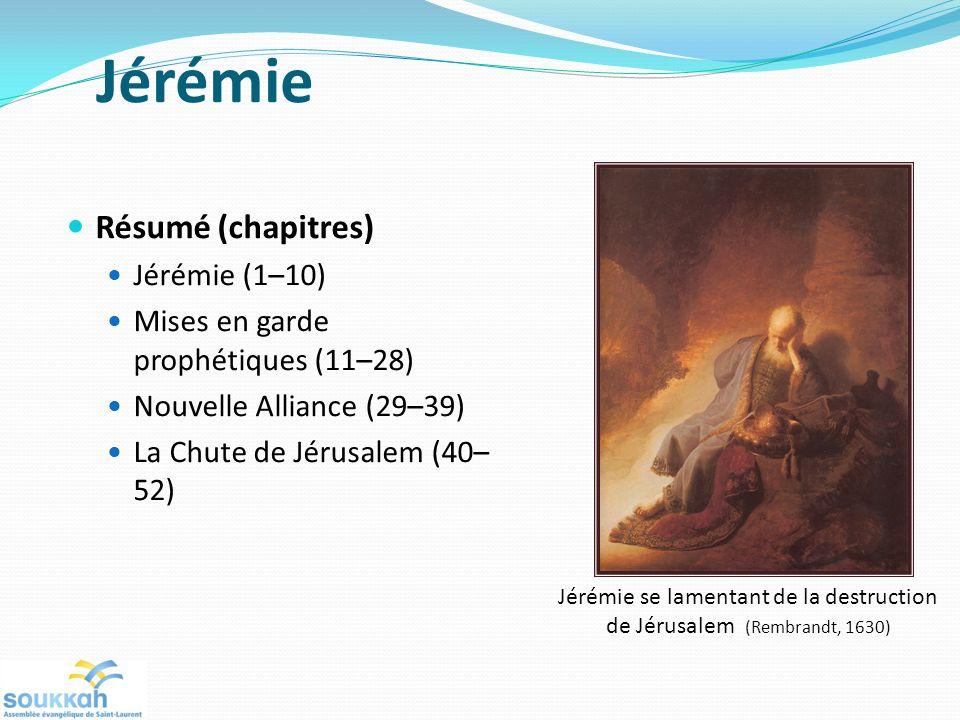 Jérémie se lamentant de la destruction de Jérusalem (Rembrandt, 1630)