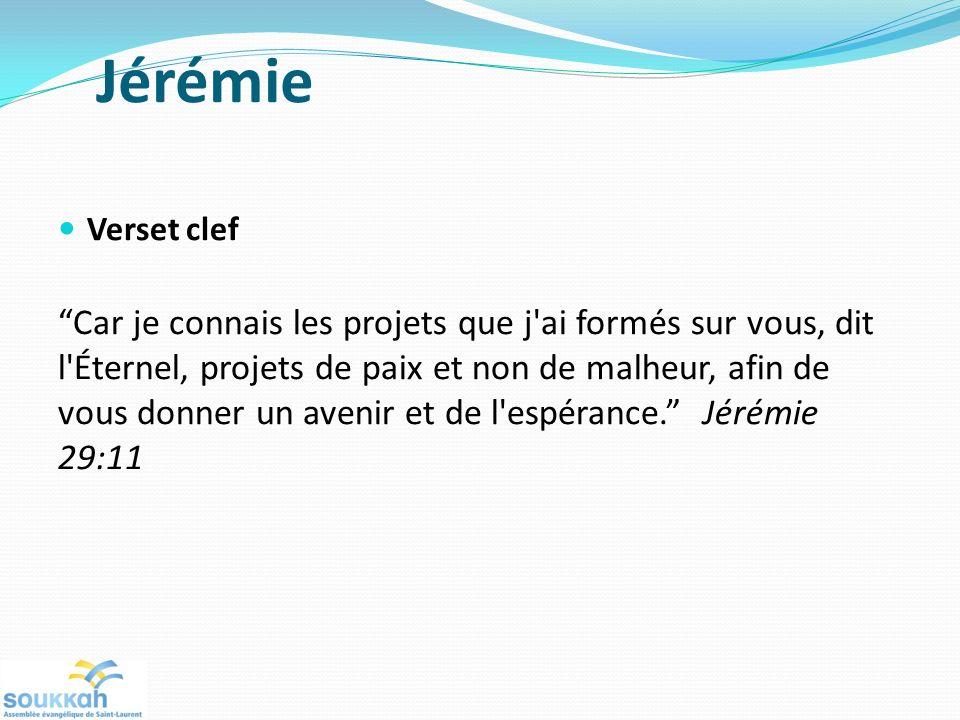 Jérémie Verset clef.