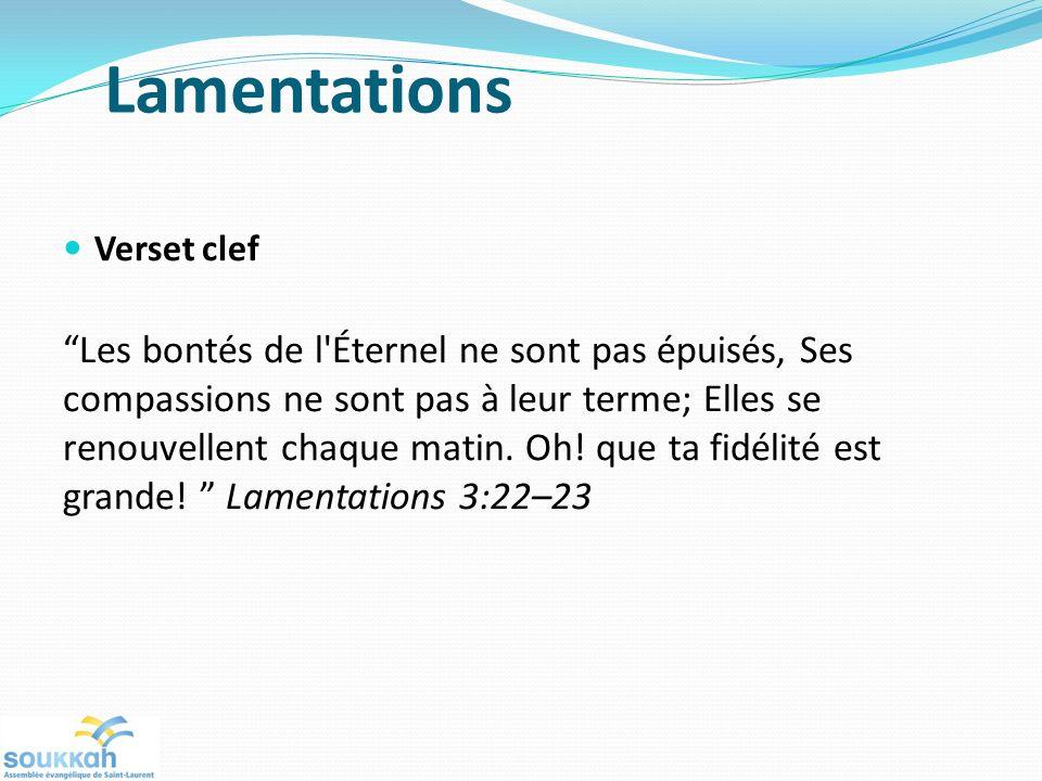 Lamentations Verset clef