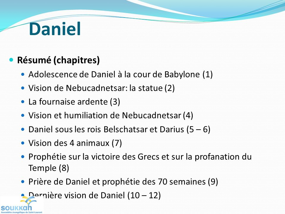 Daniel Résumé (chapitres)