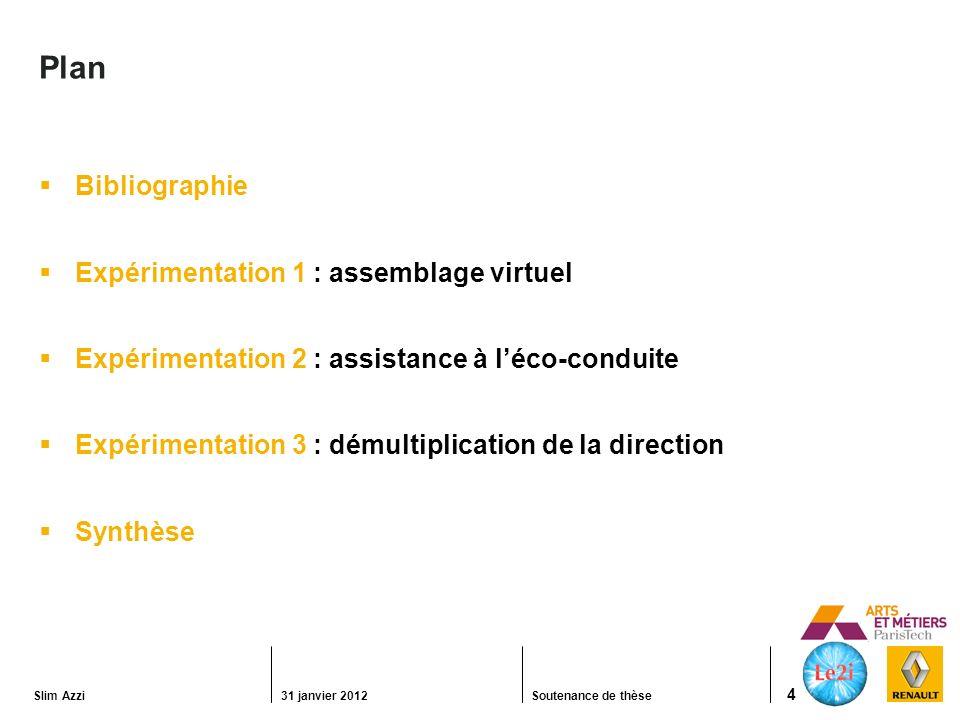 Plan Bibliographie Expérimentation 1 : assemblage virtuel