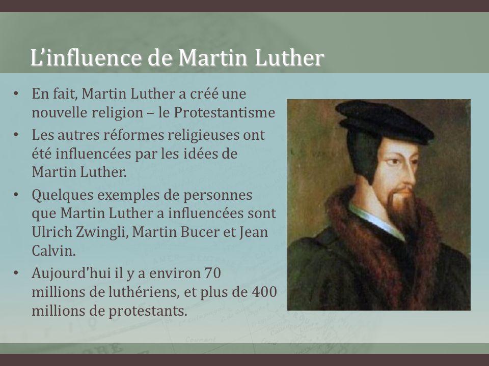 L'influence de Martin Luther