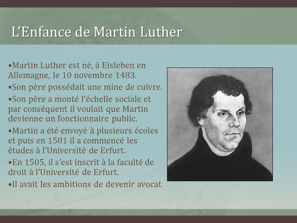 L'Enfance de Martin Luther