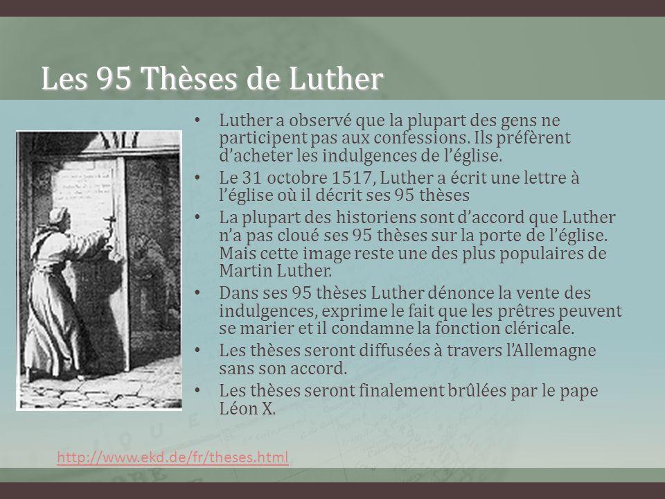 Les 95 Thèses de Luther