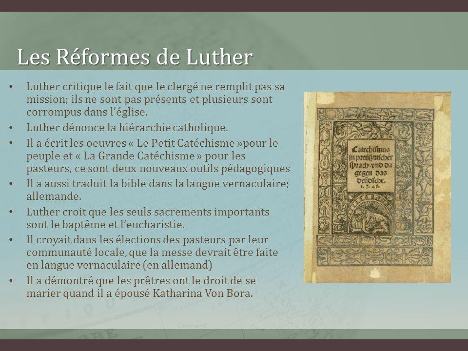 Les Réformes de Luther