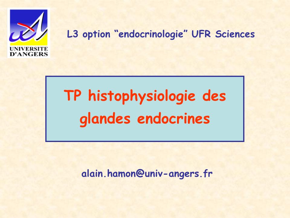 TP histophysiologie des glandes endocrines