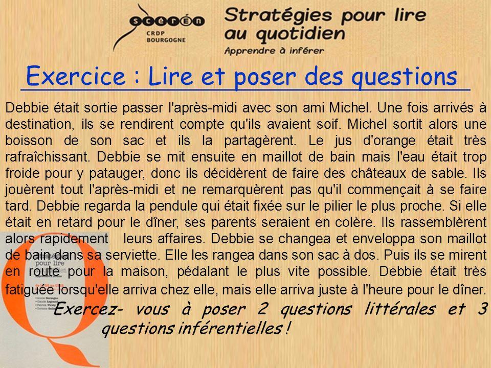 Exercice : Lire et poser des questions