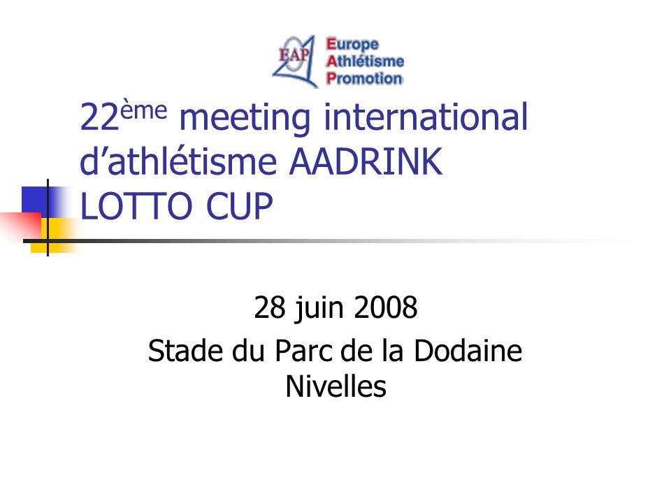 22ème meeting international d'athlétisme AADRINK LOTTO CUP