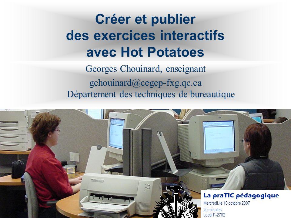 Créer et publier des exercices interactifs avec Hot Potatoes