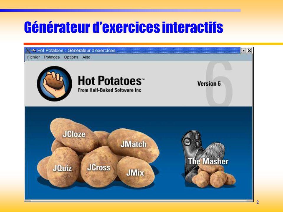 Générateur d'exercices interactifs