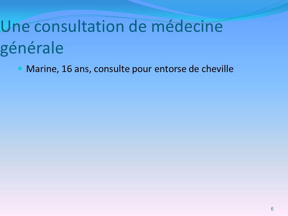 Une consultation de médecine générale