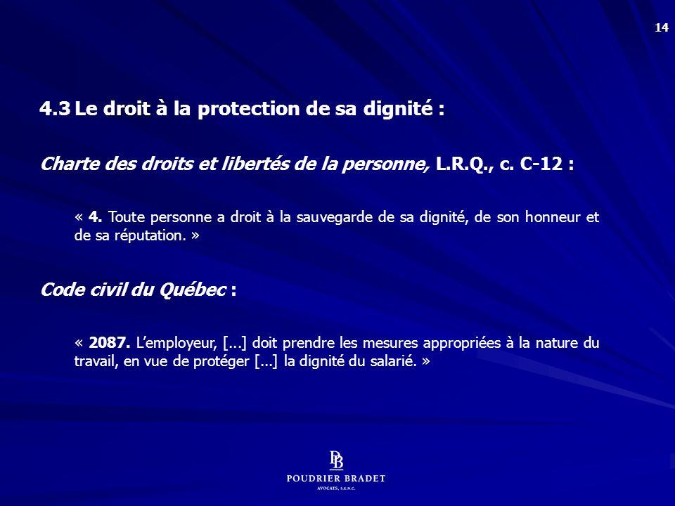 5. Le droit de surveillance de l'employeur :