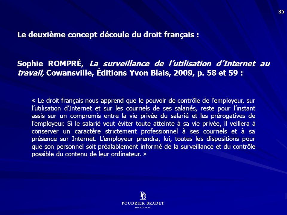 Qu'en est-il en droit québécois