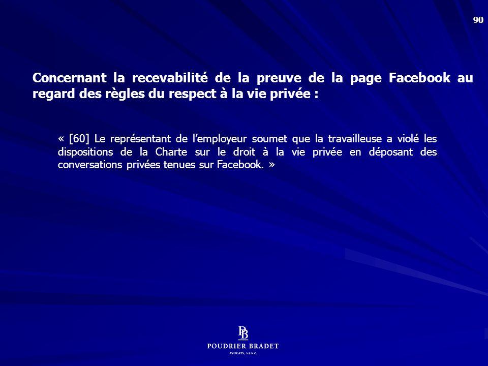 La question : Les commentaires sur Facebook font-il partie du domaine privé
