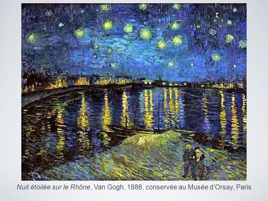 Nuit étoilée sur le Rhône, Van Gogh, 1888, conservée au Musée d'Orsay, Paris