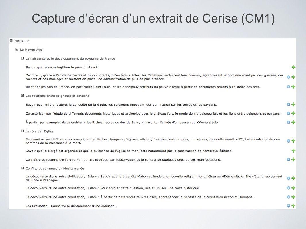 Capture d'écran d'un extrait de Cerise (CM1)