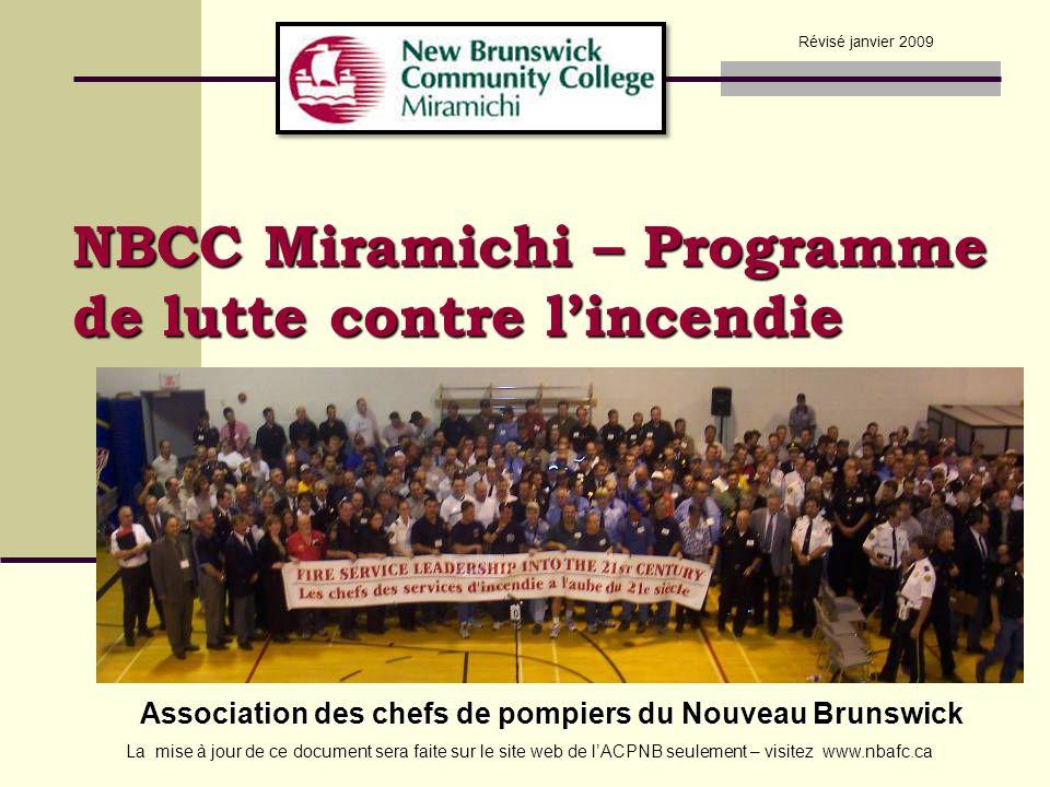 NBCC Miramichi – Programme de lutte contre l'incendie