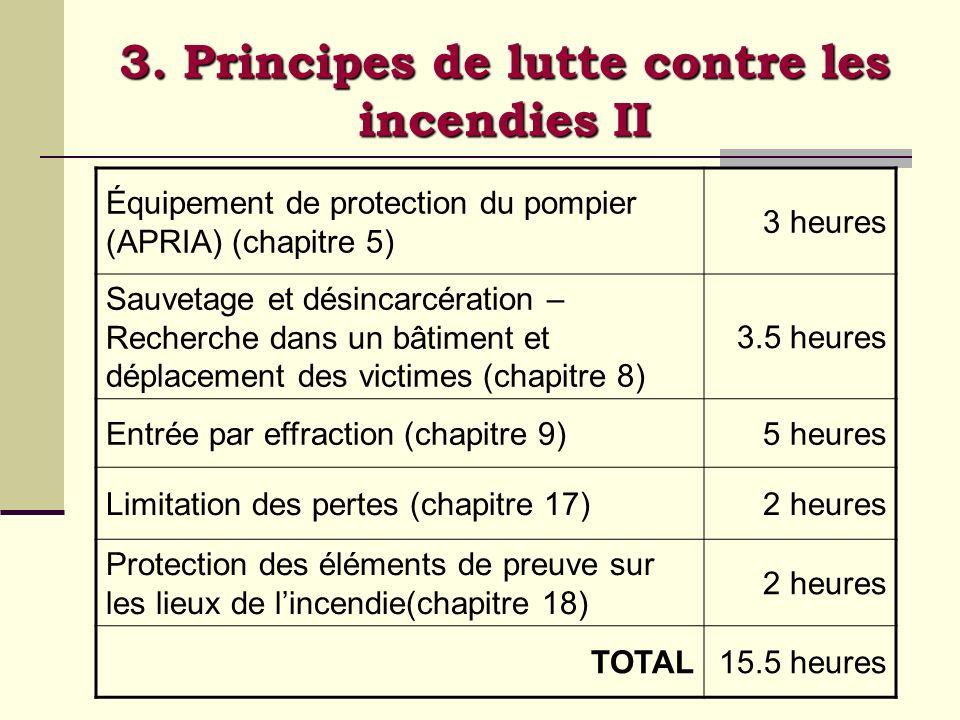 3. Principes de lutte contre les incendies II