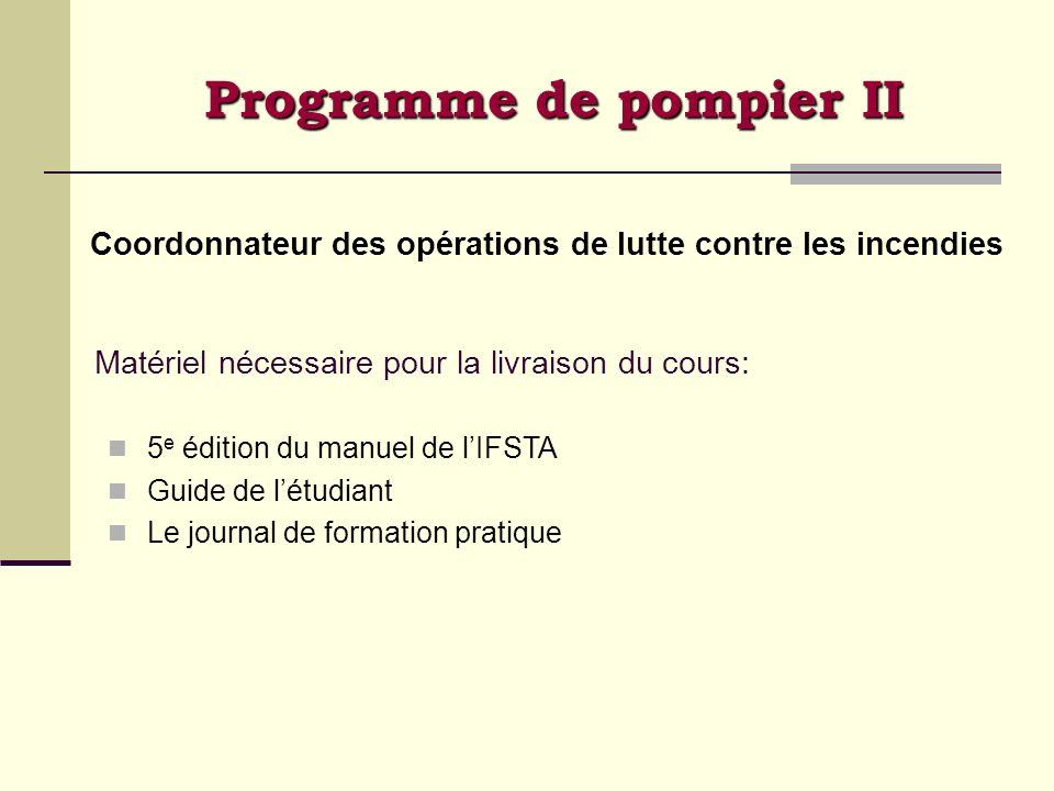 Programme de pompier II