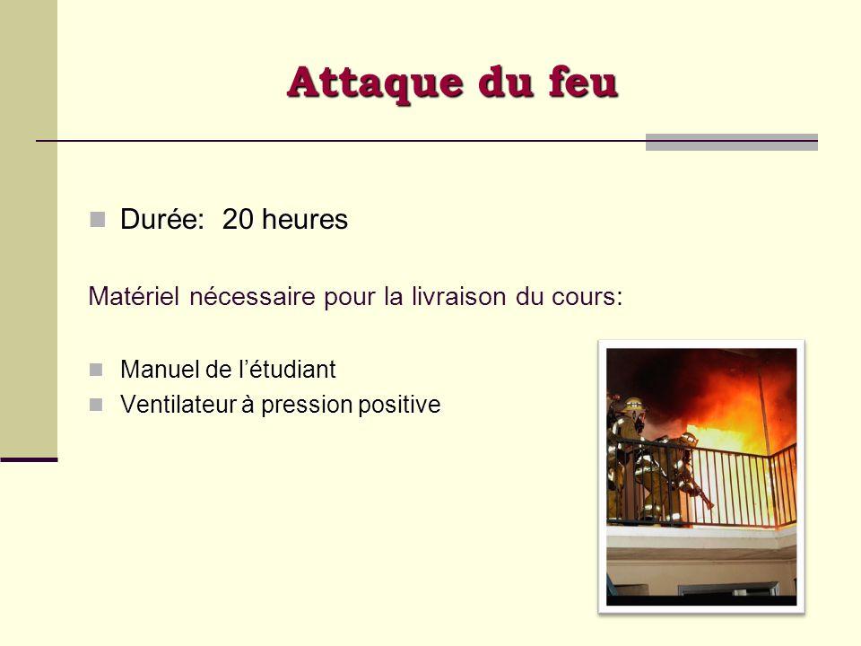 Attaque du feu Durée: 20 heures