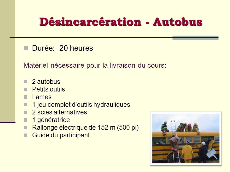 Désincarcération - Autobus