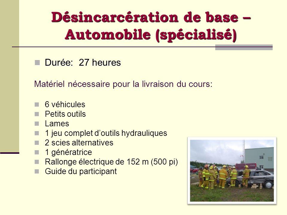 Désincarcération de base – Automobile (spécialisé)