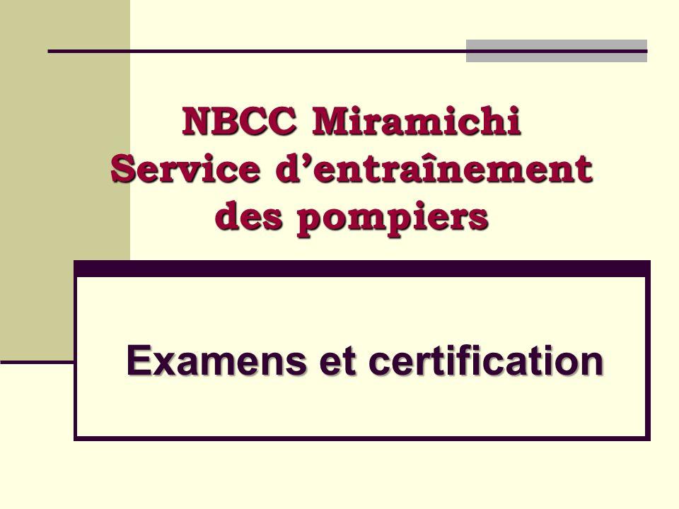 NBCC Miramichi Service d'entraînement des pompiers