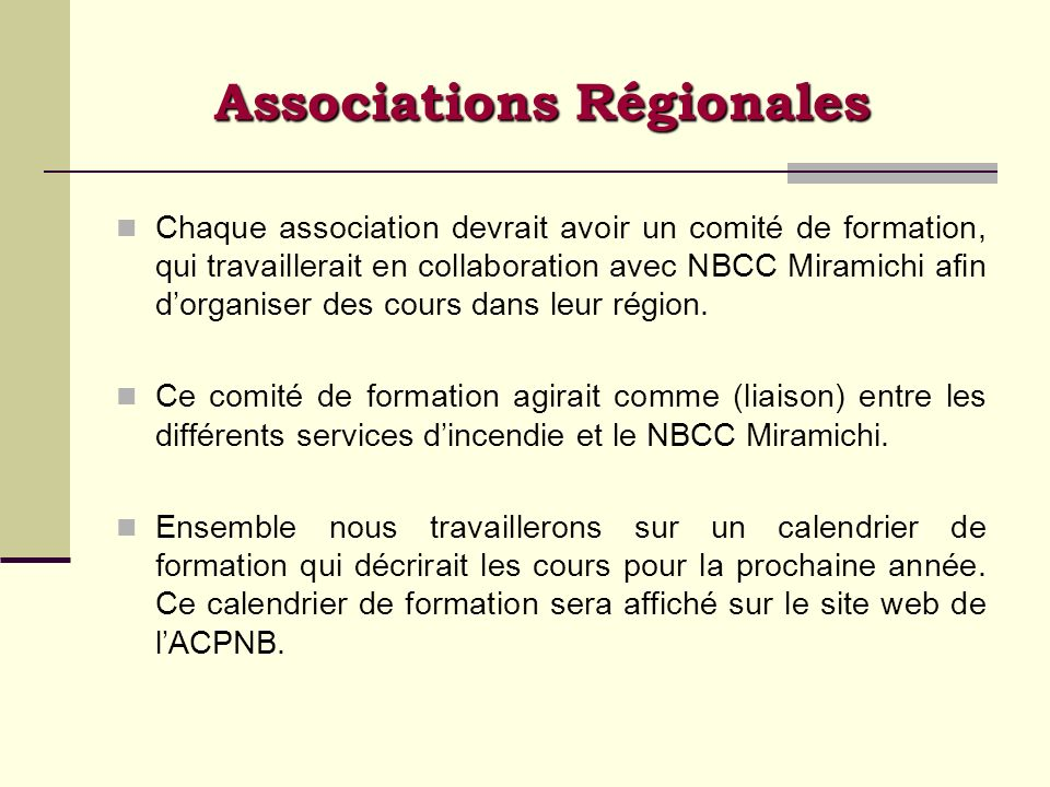 Associations Régionales
