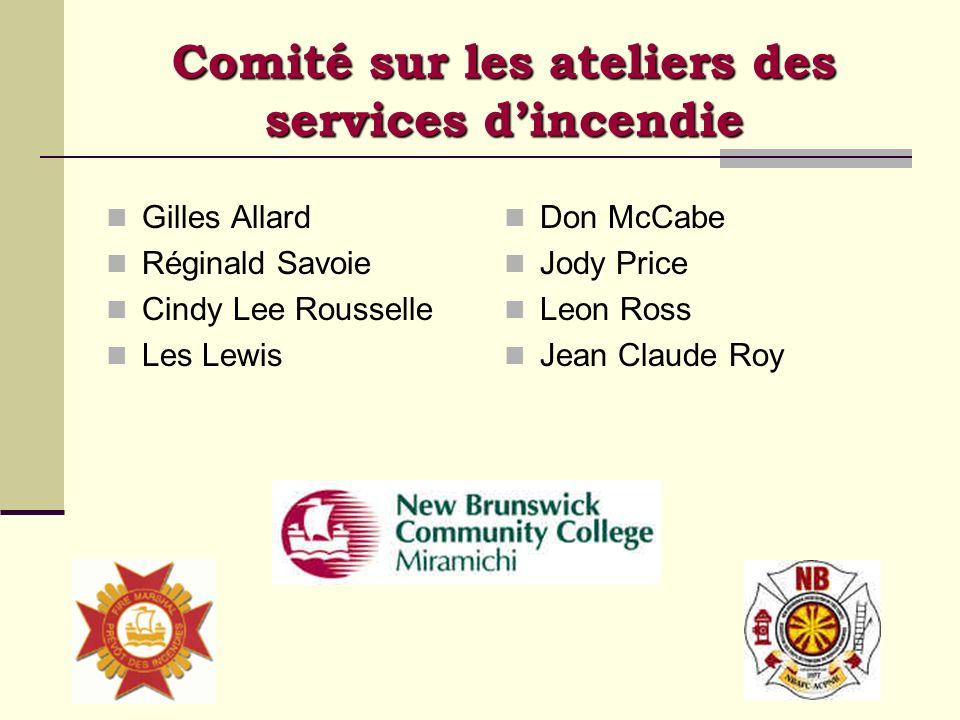 Comité sur les ateliers des services d'incendie